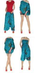 Sarouel transformable en combi ou robe luca bleu 261372