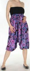 Sarouel transformable original ethnique 3en1 coloré Purple Circle 272518