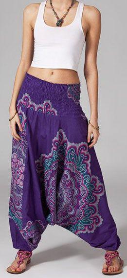 Sarouel violet pour femme Shany 269426
