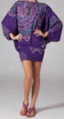 Sarouel violet pour femme Shany 269427