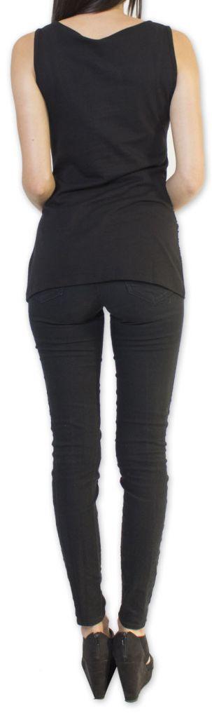Super top/débardeur original et coloré Noir Circel 273412