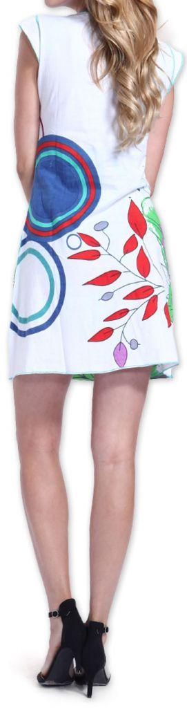 Superbe robe courte colorée et originale Blanche Corra 273420