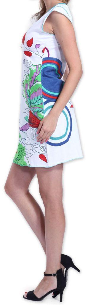 Superbe robe courte colorée et originale Blanche Corra 273421