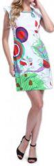 Superbe robe courte colorée et originale Blanche Corra 273422