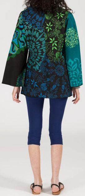 Superbe tunique ethnique et colorée - manches longues - Morgane 271923