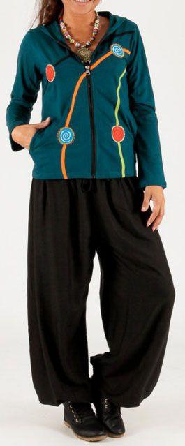 Sweat femme à capuche ethnique et pas chèr Malik 274370