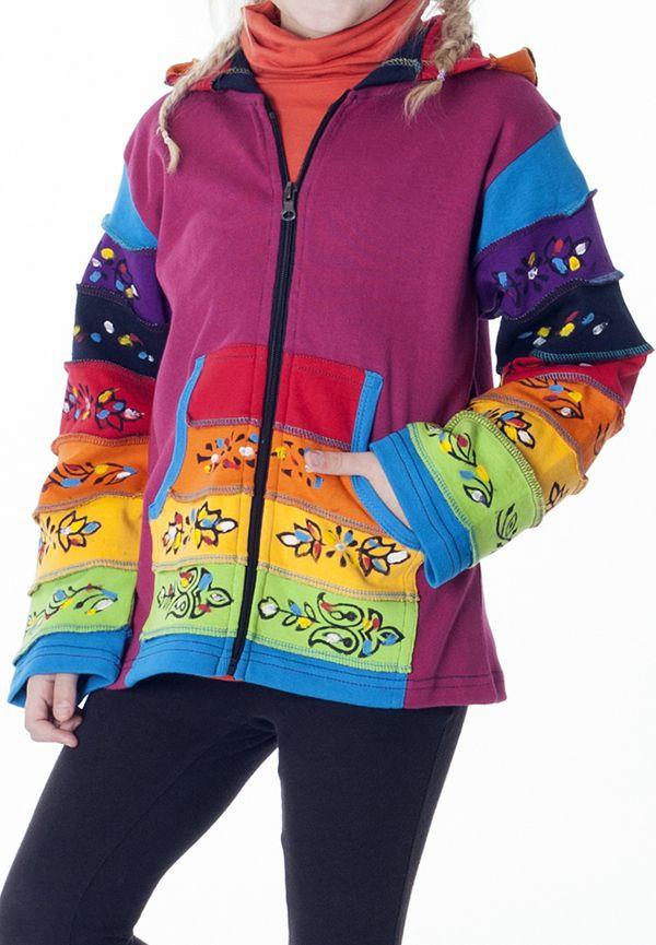 Sweat multicolore à fermeture zippée pour enfant 314255