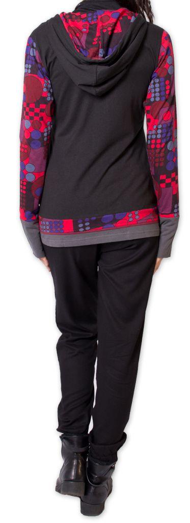 Sweat pour femme à capuche Ethnique et Coloré Marytsa 275848