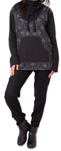 Sweat pour Femme en coton Ethnique et Original Juba Noir 275672