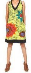 Sympathique robe courte d'été sans manches - ethnique - Anis - Flavia 272069