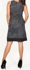 Sympathique robe courte d'été sans manches - ethnique - Noire - Flavia 272072
