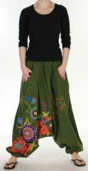 Sympathique Sarouel color� et baba cool  Kaki  Samsara 272654