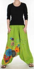 Sympathique Sarouel color� et baba cool  Vert olive  Samsara 272652