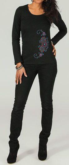 T-Shirt à manches longues Col rond  Original et Ethnique Barnabé 274302