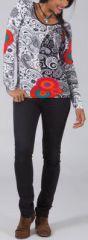 T-Shirt � manches longues Original et Color� Hans Blanc 274758
