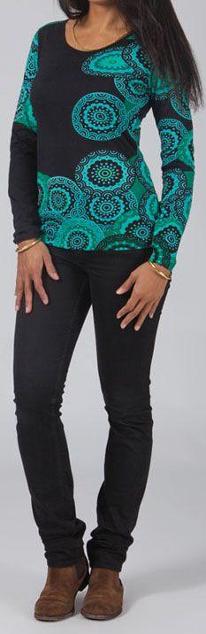T-Shirt à manches longues Original et Coloré Hans Noir 274759
