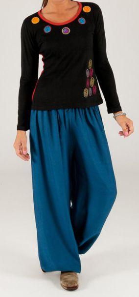Tee-shirt femme à manches longues baba cool Bariza