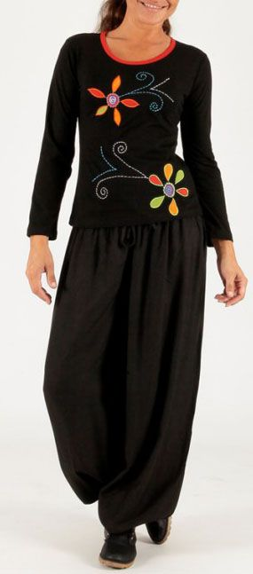 Tee-shirt femme à manches longues baba cool Kamila 274188