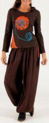 Tee-shirt femme avec capuche et manches longues Farah 274200