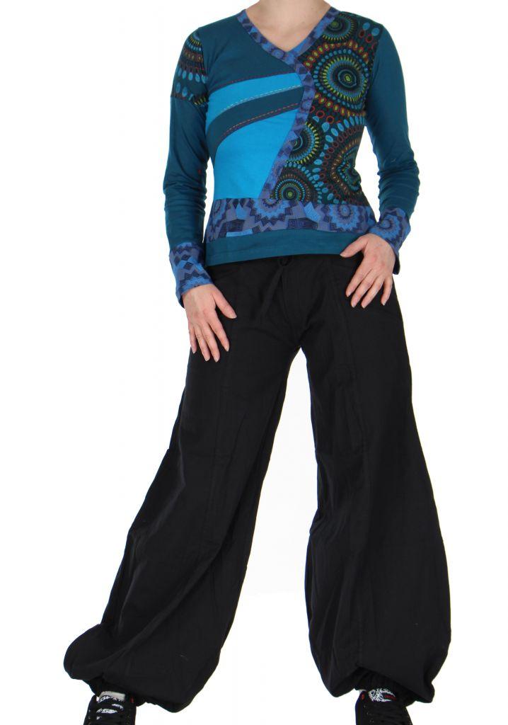 Tee-shirt femme bleu imprimé Loula 266656