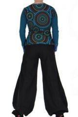 Tee-shirt femme bleu imprimé Loula 266657