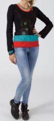 Tee-shirt femme ethnique chic � manches longues Diamente