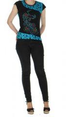 Tee-shirt femme original bleu destiny  261455