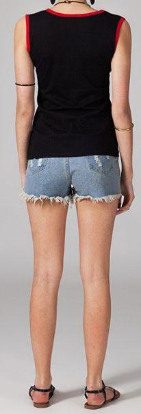 Tee-shirt femme sans manches col rond ethnique Marko 5 270653