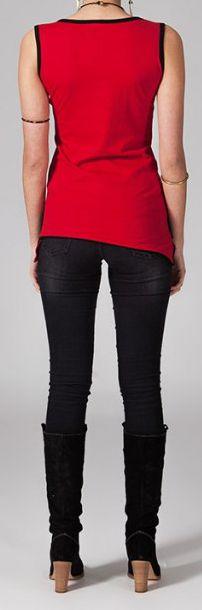 Tee-shirt femme sans manches col rond ethnique Marko 8