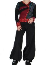 Tee-shirt noir femme imprimé Loula 266660