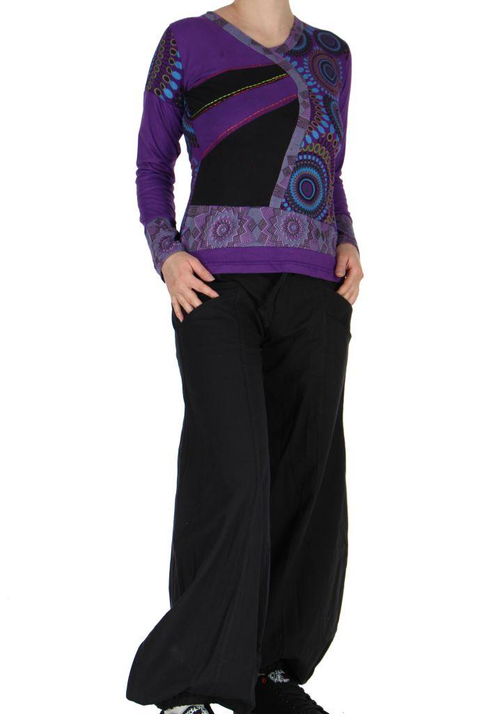 Tee-shirt violet femme imprimé Loula 266658