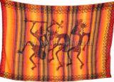 Tenture 3 guerriers ray� rouge petit mod�le 240001