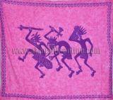 Tenture 3 guerriers rose et violet 240008