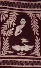 Tenture buddha bordeau 246589
