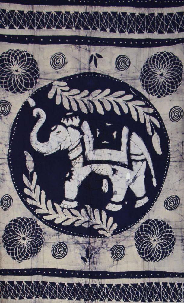 Tenture éléphant byou bleue 246584
