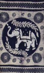 Tenture �l�phant byou bleue 246584