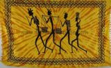 Tenture tribal four man jaune et marron 237917