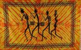 Tenture tribal four man jaune et orange 237920
