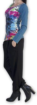 Top à manches longues Imprimé et Coloré Lottus Bleu 274458