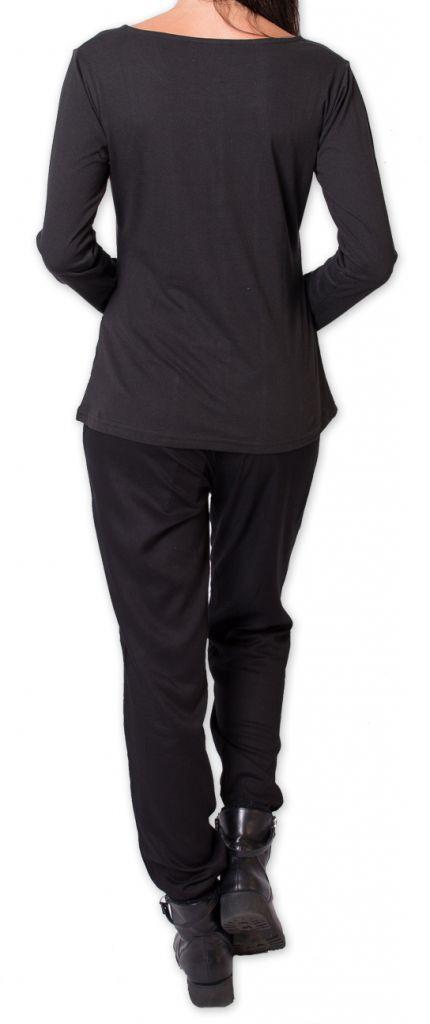 Top à manches longues Original et Coloré Dourro Noir 277513