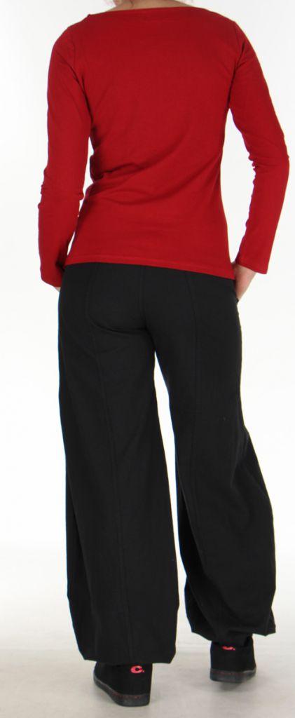 Top à manches longues pour femme Ethnique et Coloré Raphael Rouge 276294