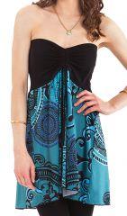 top bustier ou jupe ethnique bleu et agrable carlito 282197 - Jupe Colore