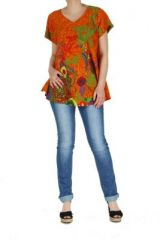 Top �t� color� femme orange Pauline 267393
