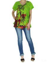 Top �t� color� femme vert Pauline 267391