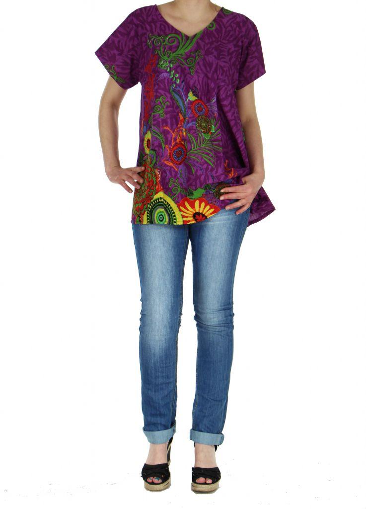Top été coloré femme violet Pauline 267383