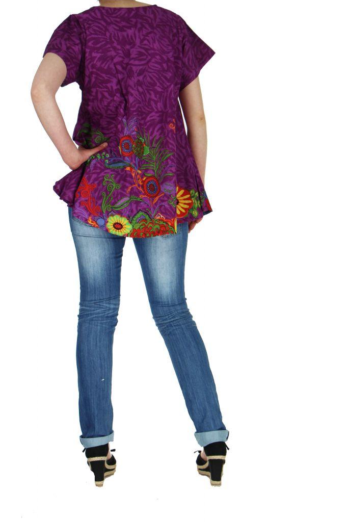 Top été coloré femme violet Pauline 267384