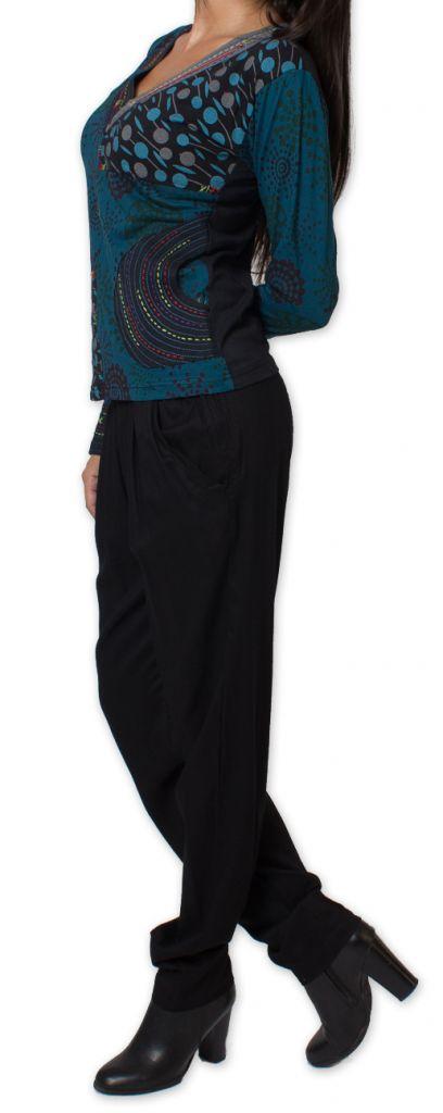 Top Femme à manches longues Ethnique et Original Magdallena Bleu 277628