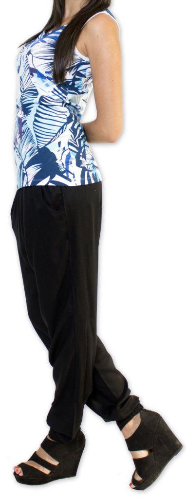 Top femme sans manches Coloré et Original Bleu Lina 273565