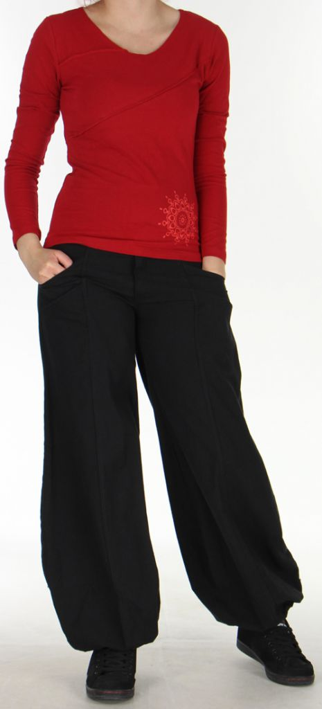top original et colore pour femme a manches longues spencer rouge. Black Bedroom Furniture Sets. Home Design Ideas