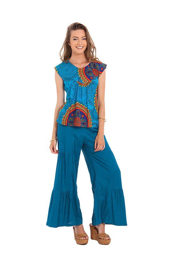 top original et leger pour femme carmino bleu a mandalas. Black Bedroom Furniture Sets. Home Design Ideas